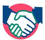 Overeenstemming hand schudden
